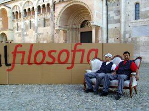 Festivalfilosofia _ Installazione in Piazza Grande a Modena